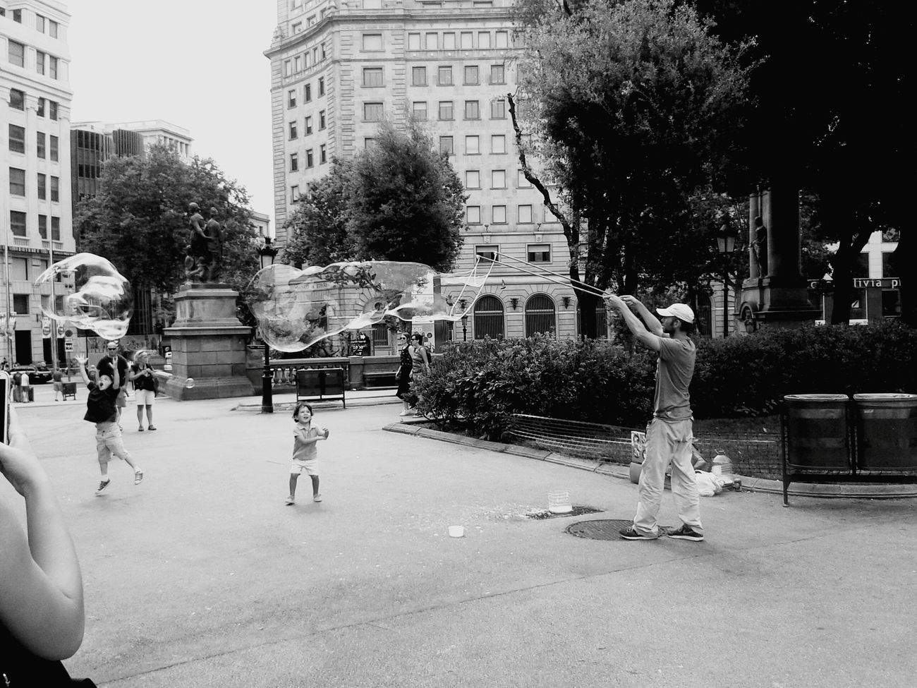 People And Places Barcelona Streets La Rambla, Barcelona City Life Day Architecture