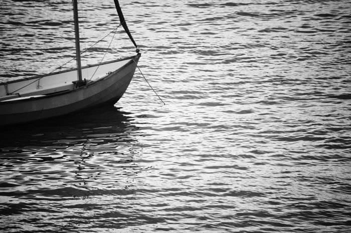 Summers Beach Water Nautical Vessel Transportation Waterfront Mode Of Transport No People Rippled Nature Sea Moored Outdoors Day Beauty In Nature Close-up Cornwall Uk Kernow Monochrome Black And White Photography