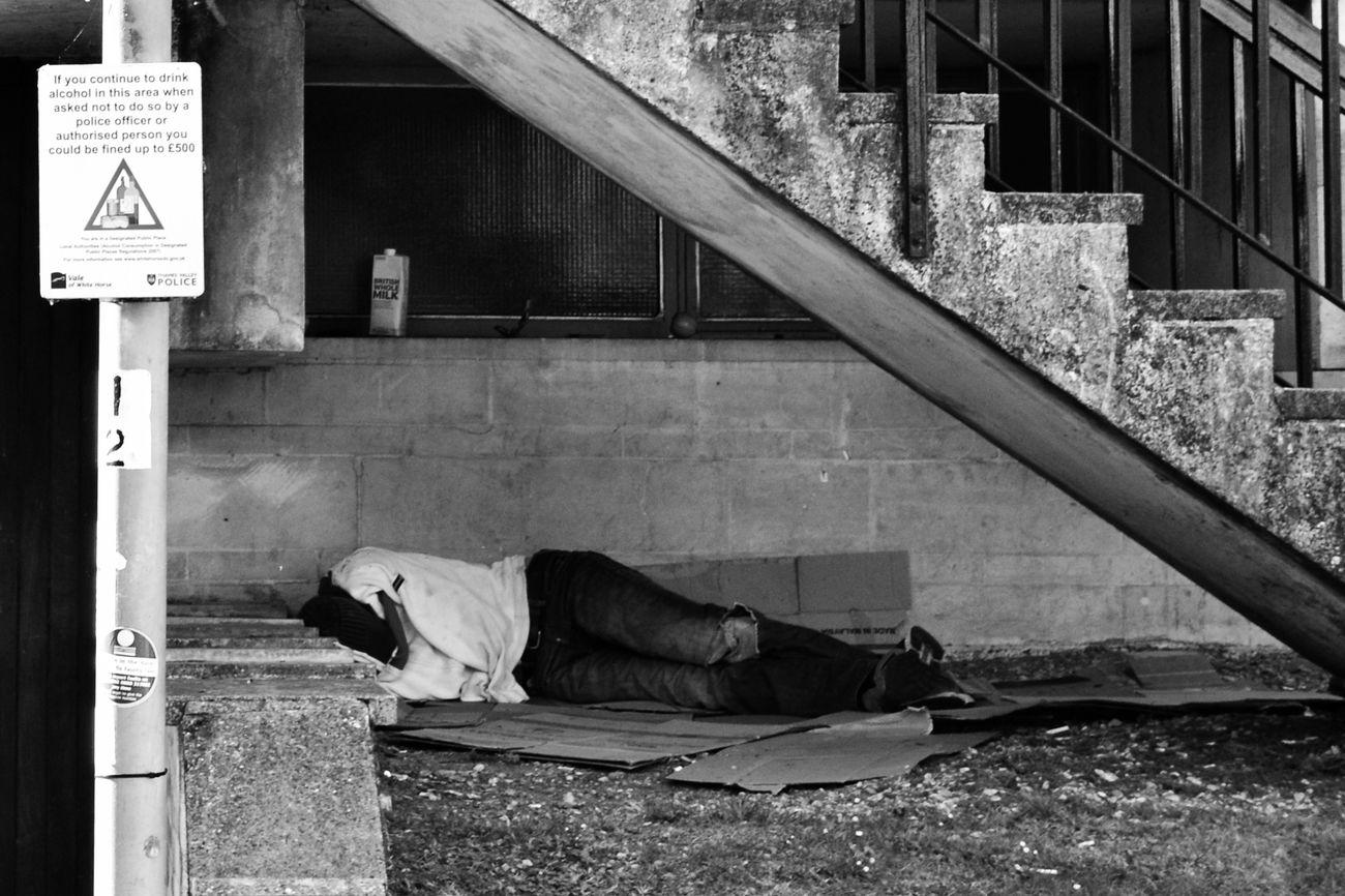 Real People Homeless Sleeping Street Photography Sleeping Rough Abingdon Abingdon-on-Thames Oxfordshire