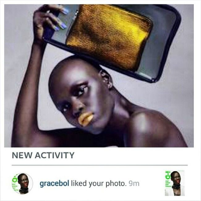 That moment when you check your Instagram handle. And your inspiration @gracebol passed by, liked your photo....???.....To me its such a big deal!!!!