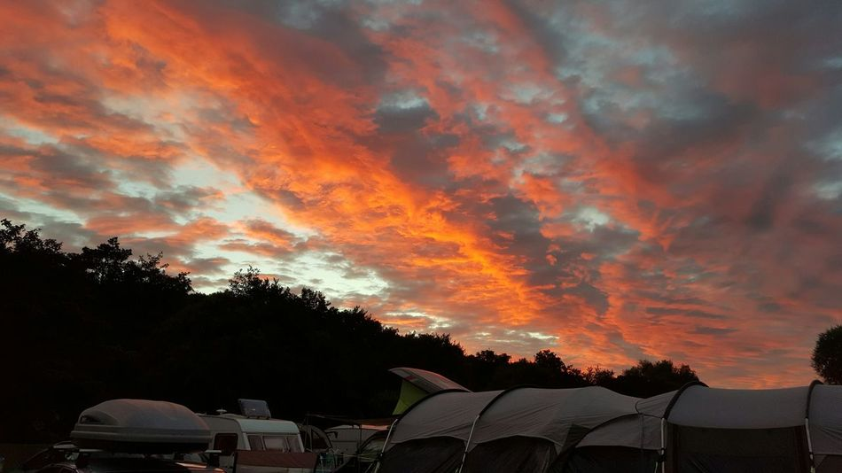 Sunset at Wooler Camping