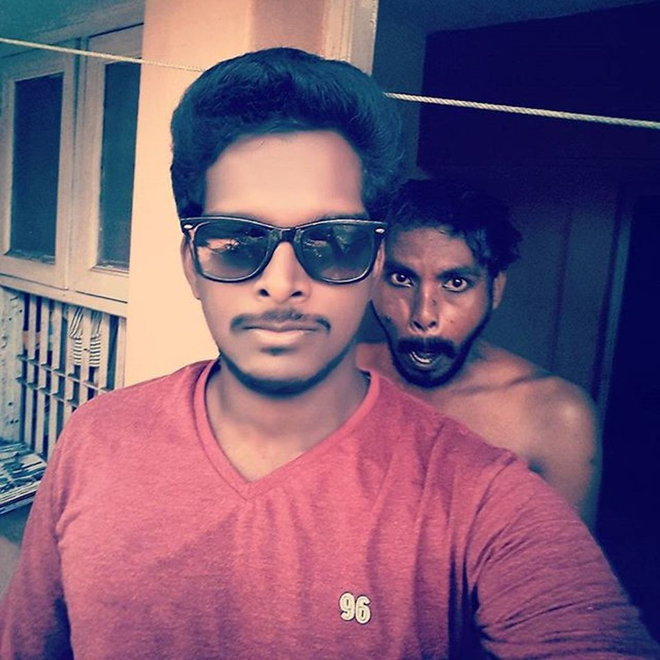 There's always a monkey behind us to spoil our good selfie! Selfie Cool Casual Sunglass  Lenskart Vincentchase Graphicdesigner Biker Innomad Royalenfield Classic500 Karaikal Chennai Love Monkey