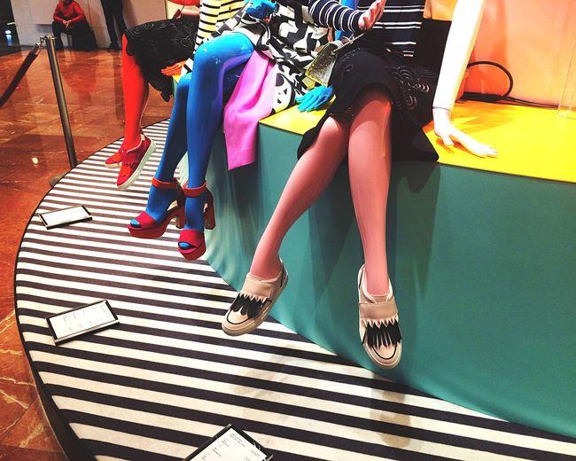 Galeries Lafayette Fashion Colorful Legs Shoes Paris Models Store Mode Multicolors  Everyday Lives 9e Urban Stripes Everywhere