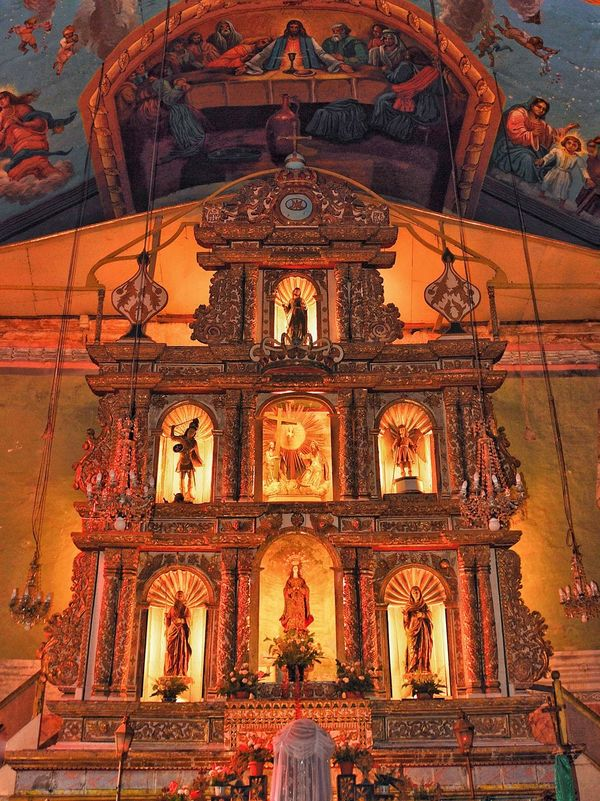 08.2009 Altar Saints Baclayon Church BACLAYON Bohol Philippines Orange Holy Solemn EyeemPhilippines