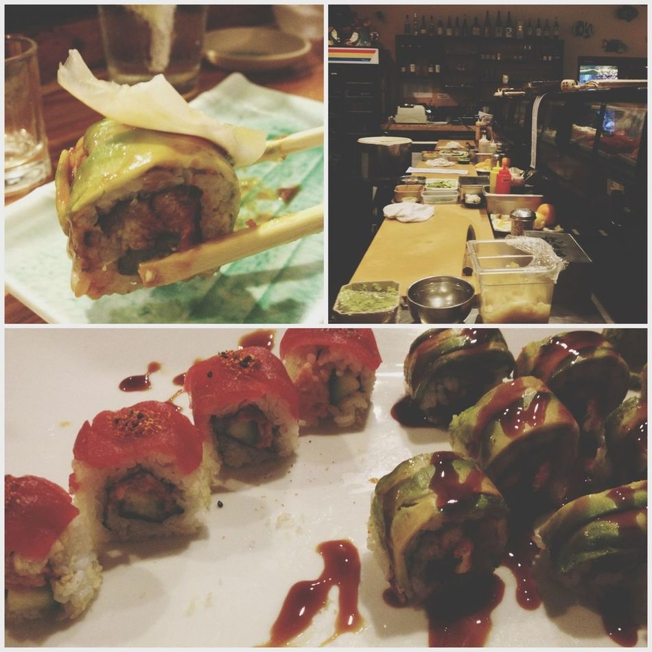 Yummy yummy! Love this place! Sushi Dragon Roll Caliente Roll