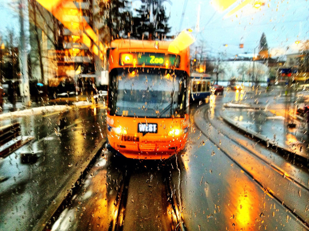 Tram at VBZ Platte by Adrian Senn