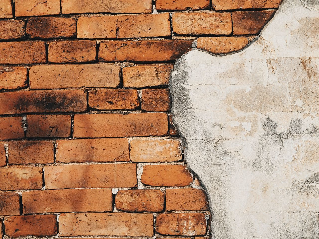 brick wall, wall - building feature, built structure, architecture, stone material, textured, backgrounds, building exterior, no people, red, day, outdoors, close-up