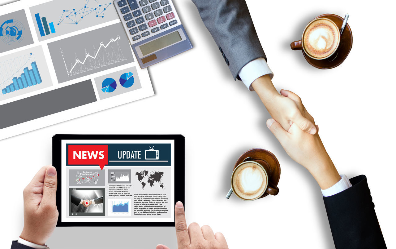 Business Businessman Coffee - Drink Coffee Cup Day Digital Tablet Directly Above Drink High Angle View Human Body Part Human Hand Indoors  Men People Technology Togetherness Touch Screen Wireless Technology