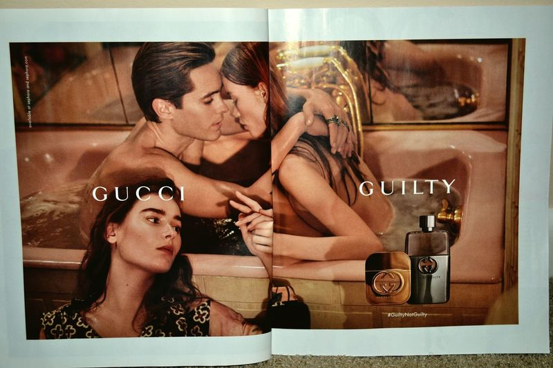 Gucci and Jared? Beautiful. Jared Leto GUCCI Guilty Elle Magazine Models Bathtub