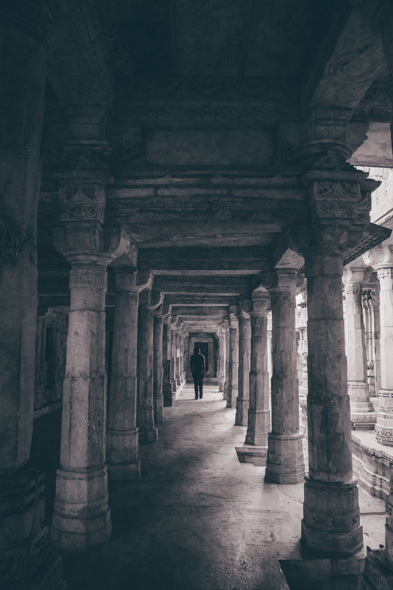 The dark doesn't destroy the light, it defines it. Architecture The Way Forward Indoors  Colonnade Architectural Column Built Structure Underneath Light And Shadow Arch Shadow