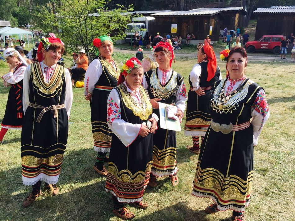 Bulgaria Real People Folklore Bulgarian Folklore Bulgarian Traditions Bulgarian Costumes Bulgarian Adults Only Costume Mature Women Large Group Of People