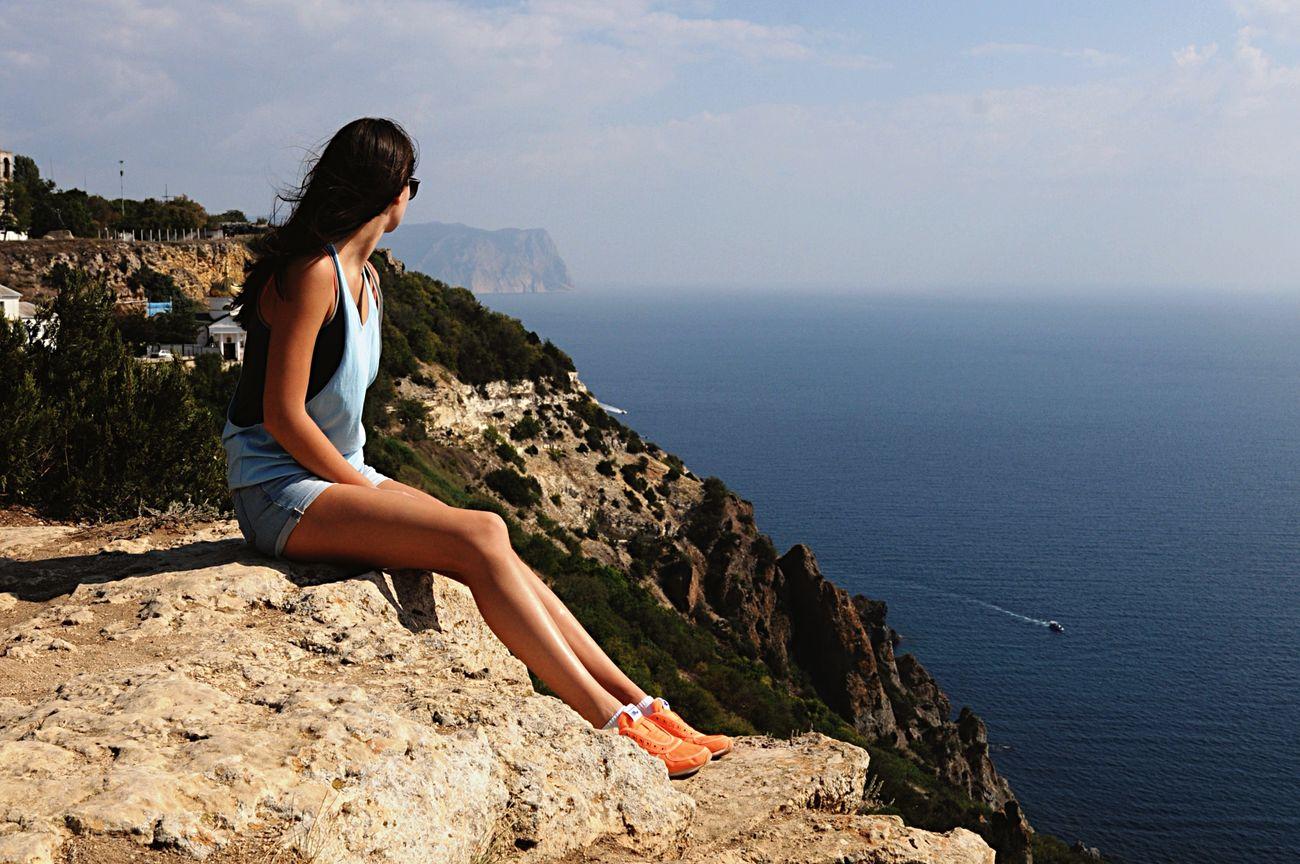 Blacksea Sevastopol  Crimea Cliff Summer Sea Traveling Height EyeEm EyeEm Nature Lover