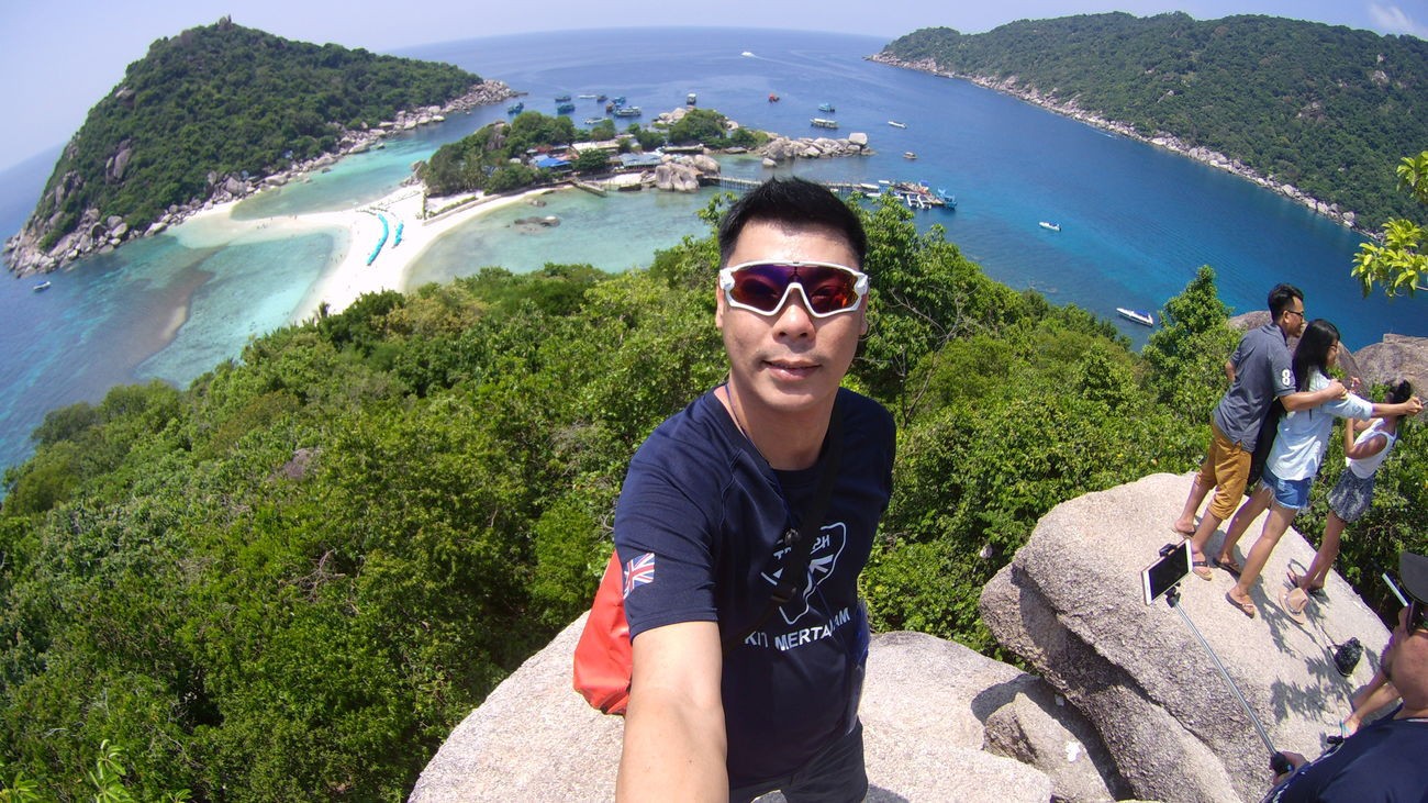 Sunglasses Portrait Summer Looking At Camera Water High Angle View Day Vacations Sea Outdoors Smiling One Person People Happiness Beach Adults Only Adult One Man Only Nature Young Adult Selfie Human Body Part That's Me! Amazing Thailand Koh Nangyuan