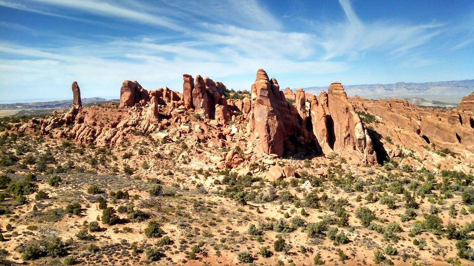 #arches #nationalpark #redrock #Utah Arid Climate Beauty In Nature Cliff Cloud Cloud - Sky Geology Idyllic Landscape Mountain Nature Non-urban Scene Physical Geography Remote Rock Rock - Object Rock Formation Scenics Sky Tranquil Scene Tranquility