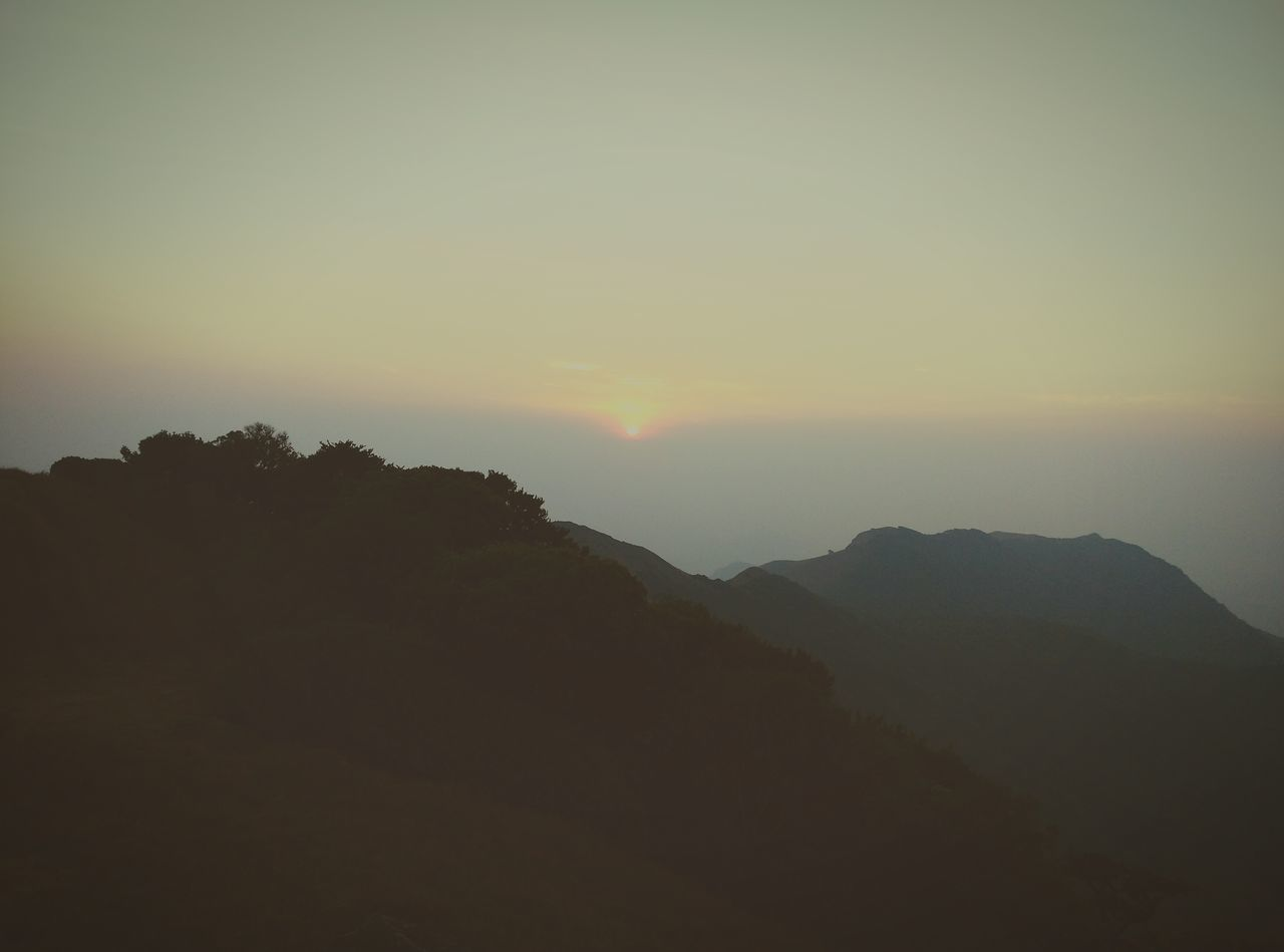 sunset, mountain, nature, silhouette, landscape, no people, beauty in nature, sky, outdoors
