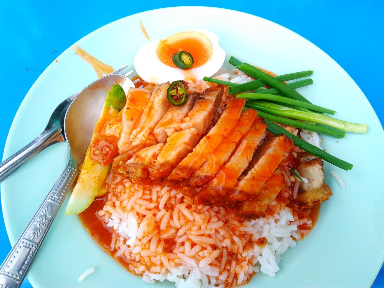 Crispy pork with rice Crispy Pork Roasted Pork Rice Rice Sweet Sauce Food Food And Drink Healthy Eating Plate Ready-to-eat Close-up Main Course Cooked Meal Serving Size Meal Homemade Yummy Delicuous Food Photography Bangkok Freshness