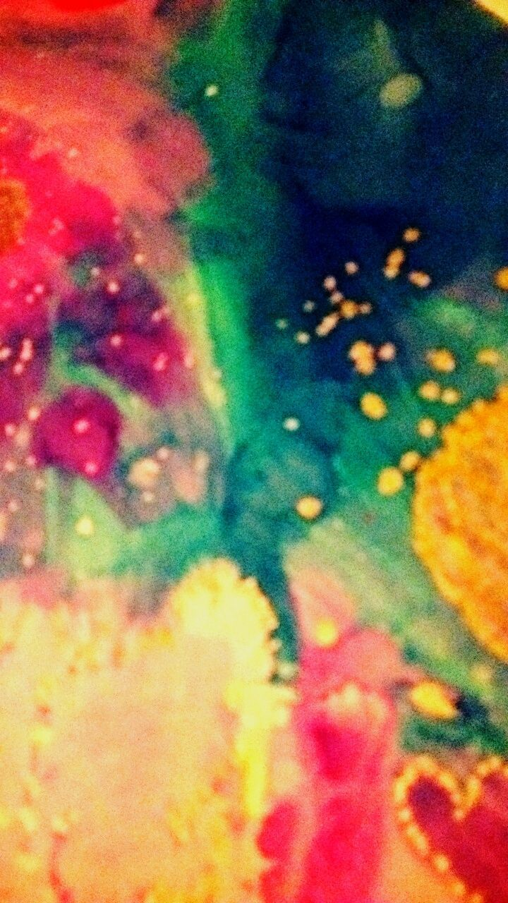 multi colored, close-up, full frame, powder paint, no people, indoors, night, holi