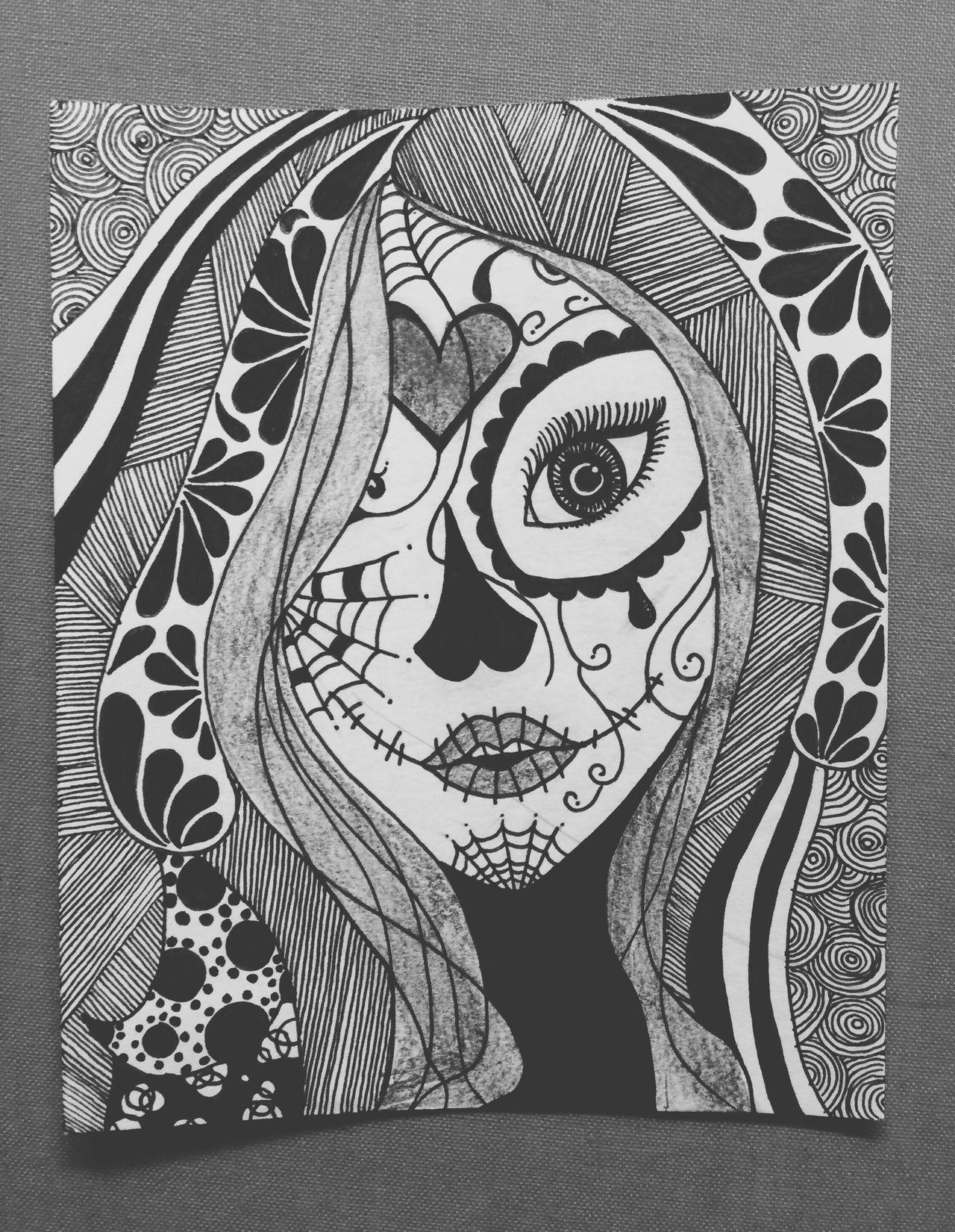 Drawing ArtWork Girl Candyskull