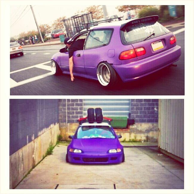fresh ass bubble #honda #civic #purple