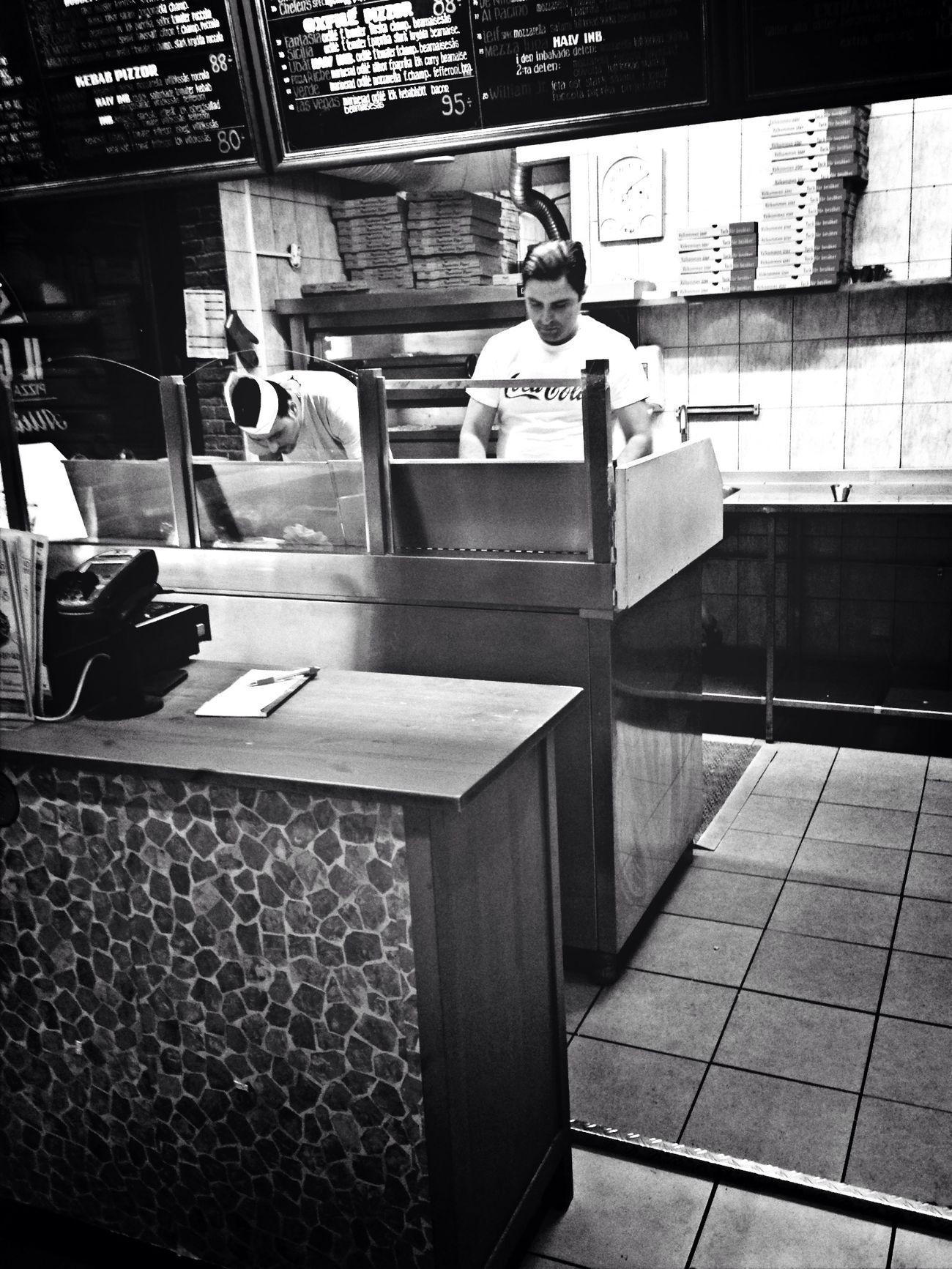 En Pizzabagare här bor i staden...