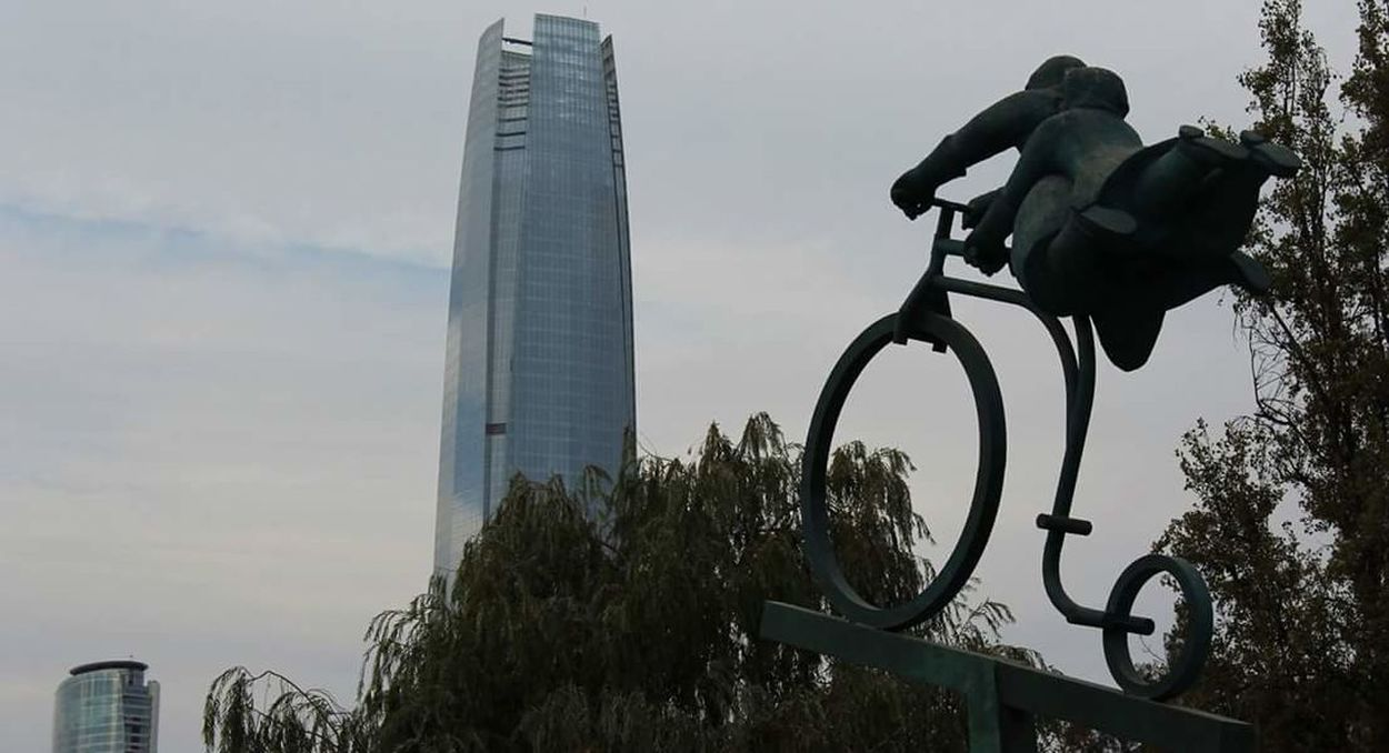Chile Day Chile Costanera Center Statue Sky Business Finance And Industry Modern Arts Culture And Entertainment Built Structure Outdoors Architecture No People Tree Nature City First Eyeem Photo