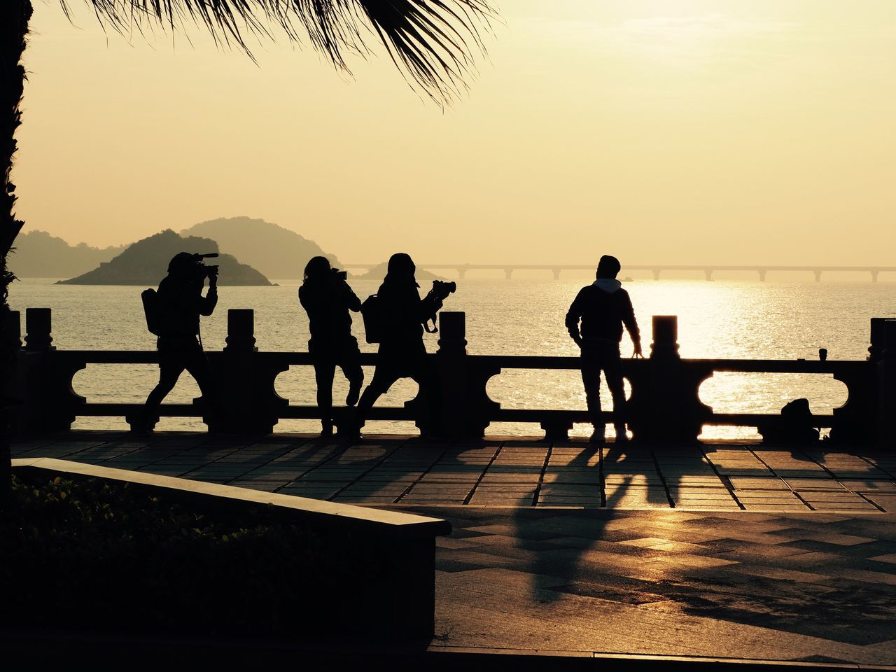 Photoshoot Sunrise Silhouette Leisure Activity Lifestyles Water Men Transportation Sea Outline Real People Sky Beauty In Nature Outdoors Nature Day Sunrise Sunrise Silhouette Street Zhuhai China