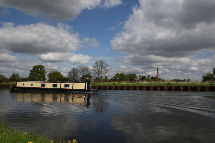 Aire Aire And Calder Navigation Barge Beauty In Nature Calder Canal Cloud - Sky Day Long Boat Nature Navigation Outdoors Reflections Selby Abbey Sky Transportation Tree Water Waterfront Yorkshire