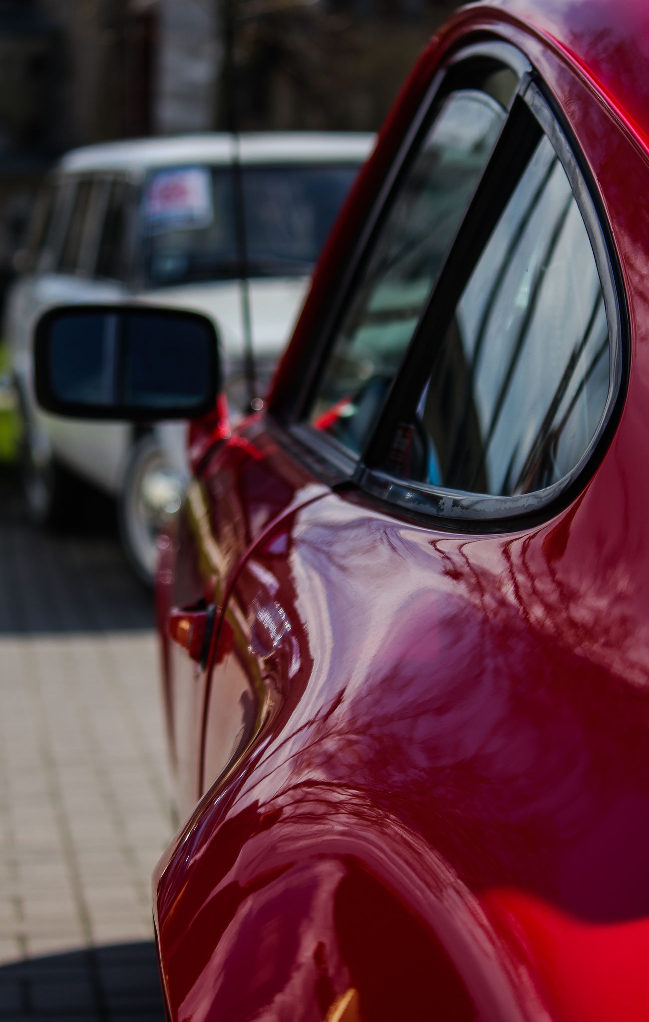 Car Transportation Mode Of Transport Reflection Land Vehicle Vehicle Mirror Motor Vehicle Stationary Side-view Mirror City Close-up Outdoors No People Day Porche
