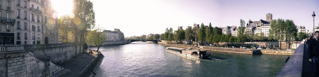 Panoramic Paris Seine Boats Sunset Holidays