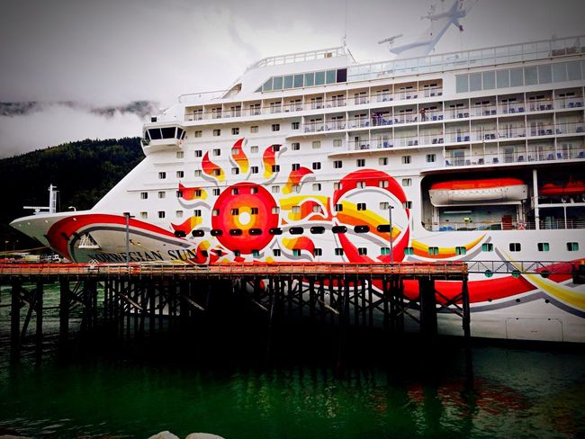 Last year's Alaskan cruise Sightseeing Starting A Trip Checking In Traveling Water Reflections Clouds And Sky