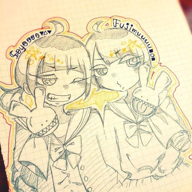 お友だち Illustration Drawing Friends Girl