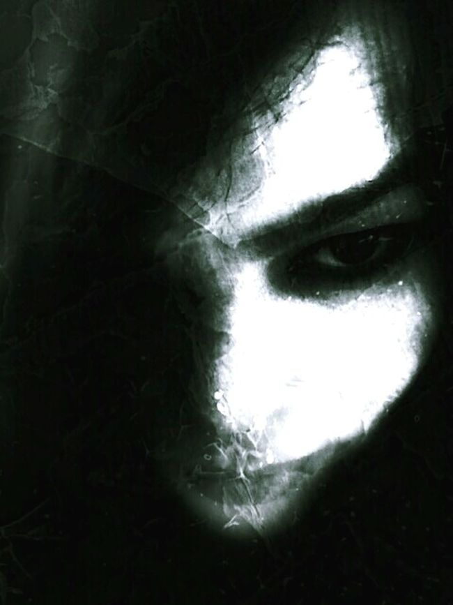 The dark of my I ... Scary Face Haunted Creepy Face Welcome To My Nightmare Blackandwhite Photography Black & White Monochrome _ Collection The Art Of Darkness Darkness Look Into The Darkness  Light And Shadow Darkness And Light Bnw_friday_eyeemchallenge Darkart Darkside