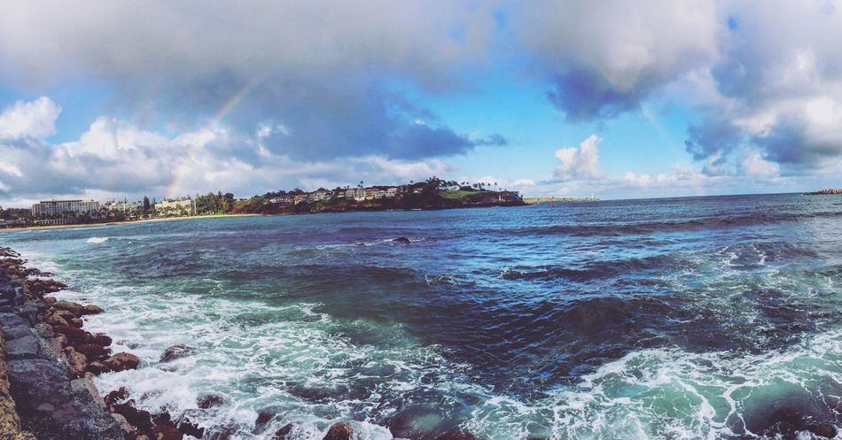Storm Cloud Outdoors Tranquility Beauty In Nature Cloud - Sky Adventures Perfectview Hawaii Finding New Frontiers Newadventures Rainbow Waves, Ocean, Nature EyeEmNewHere