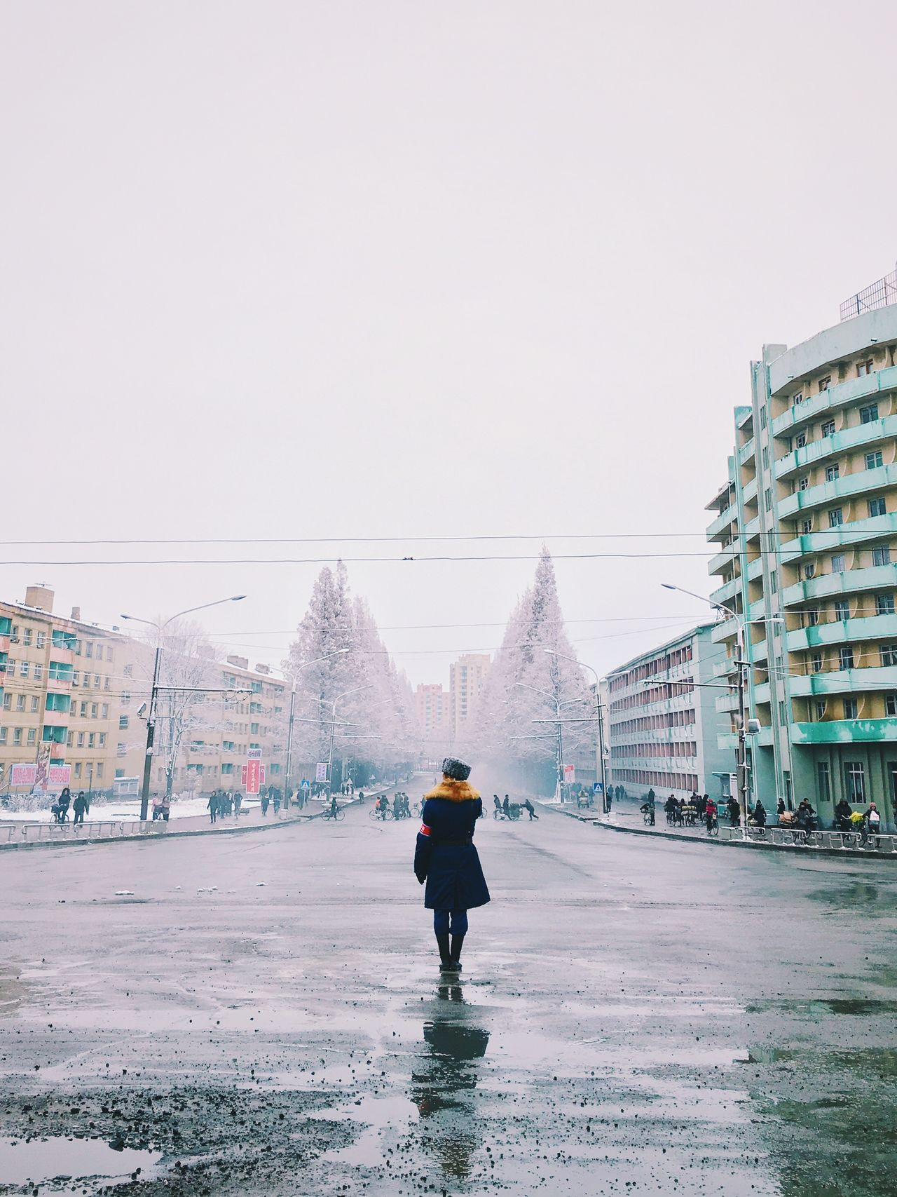 Beautiful stock photos of north korea, Architecture, Building Exterior, Built Structure, Cable