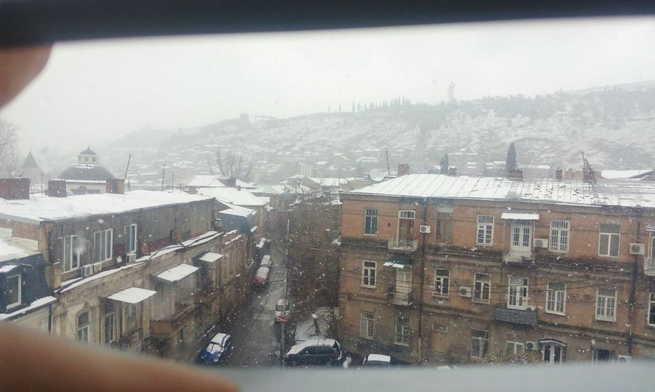 Winter Snow Cold Temperature City Architecture Cityscape Weather Building Exterior Built Structure Snowing No People Outdoors Day Nature Sky View From The Top View From My Window Mtatsminda Georgia Tbilisi View Georgia Tbilisi Window City Old Tbilisi Old City