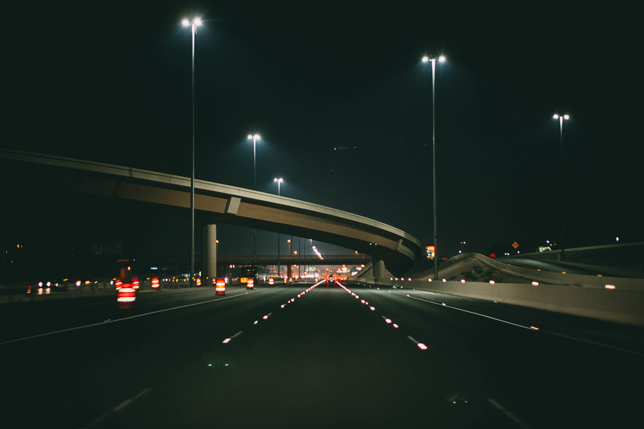 Night Transportation Illuminated Road Car Traffic Street Light Highway Bridge - Man Made Structure Mode Of Transport Light Trail No People Architecture Land Vehicle Built Structure City Outdoors Sky Politics And Government Photographerinlasvegas Evanscsmith Architecture