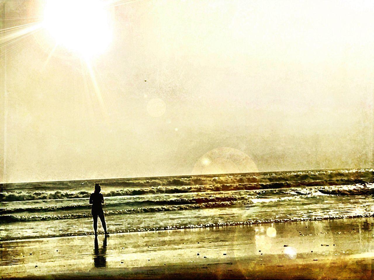 Costa Rica Pacific Ocean Sunset Beauty In Nature Nature Real People Standing Water Silhouette Sky Beach Wave Sand Beach Photography Travel Photography Waves, Ocean, Nature Happy Me Myself And I Enjoying Life Pura Vida ✌ Nosara