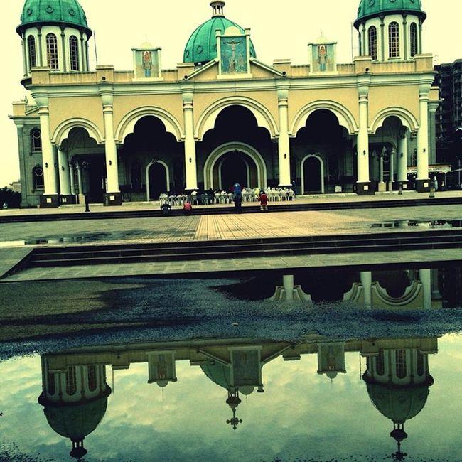 Picoftheday Reflection BoleMedhanialem Cathedral Addis  Addisababa Ethiopia Africa EthiopianOrthodox AddisStrong