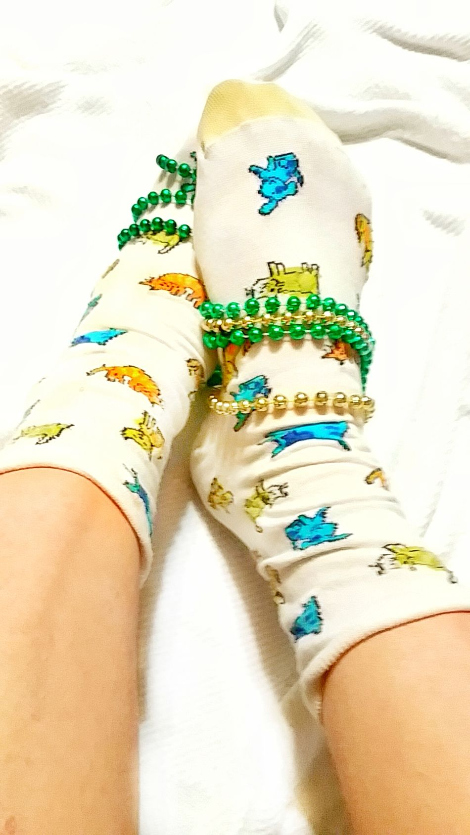 TK Maxx Socksie Beauty Women Socks Clothing Beads-necklace Multicolors  Soft Texture Marti Gras Cat Design Cat Socks Bright Colors Colorful Pattern Texture Beads Comfortable Multi Colored Funny Socks Softness Foot Design Cute Socks Colorful Socks Multicolors