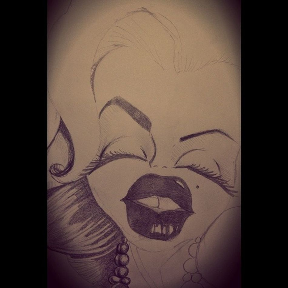 Caricature ;) Onesketchaday Marilynmonroe Pencil Drawing sketchpad kneaded