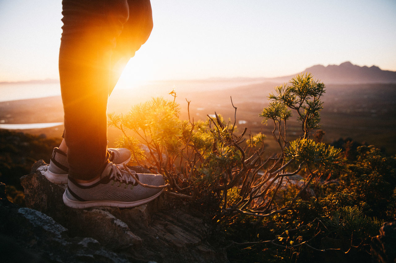 Adventure Cape Town Exploring Foot Male Man Nature Out Of The Box Shoe Sneakers South Africa Standing Style Sunset Walking Out Of The Box