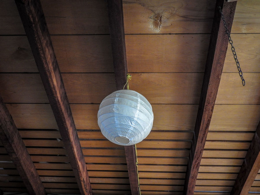 Ceiling Design Directly Below Electric Lamp Electric Light Geometric Shape Light Bulb Lighting Equipment Low Angle View No People Wood - Material Wood Beams