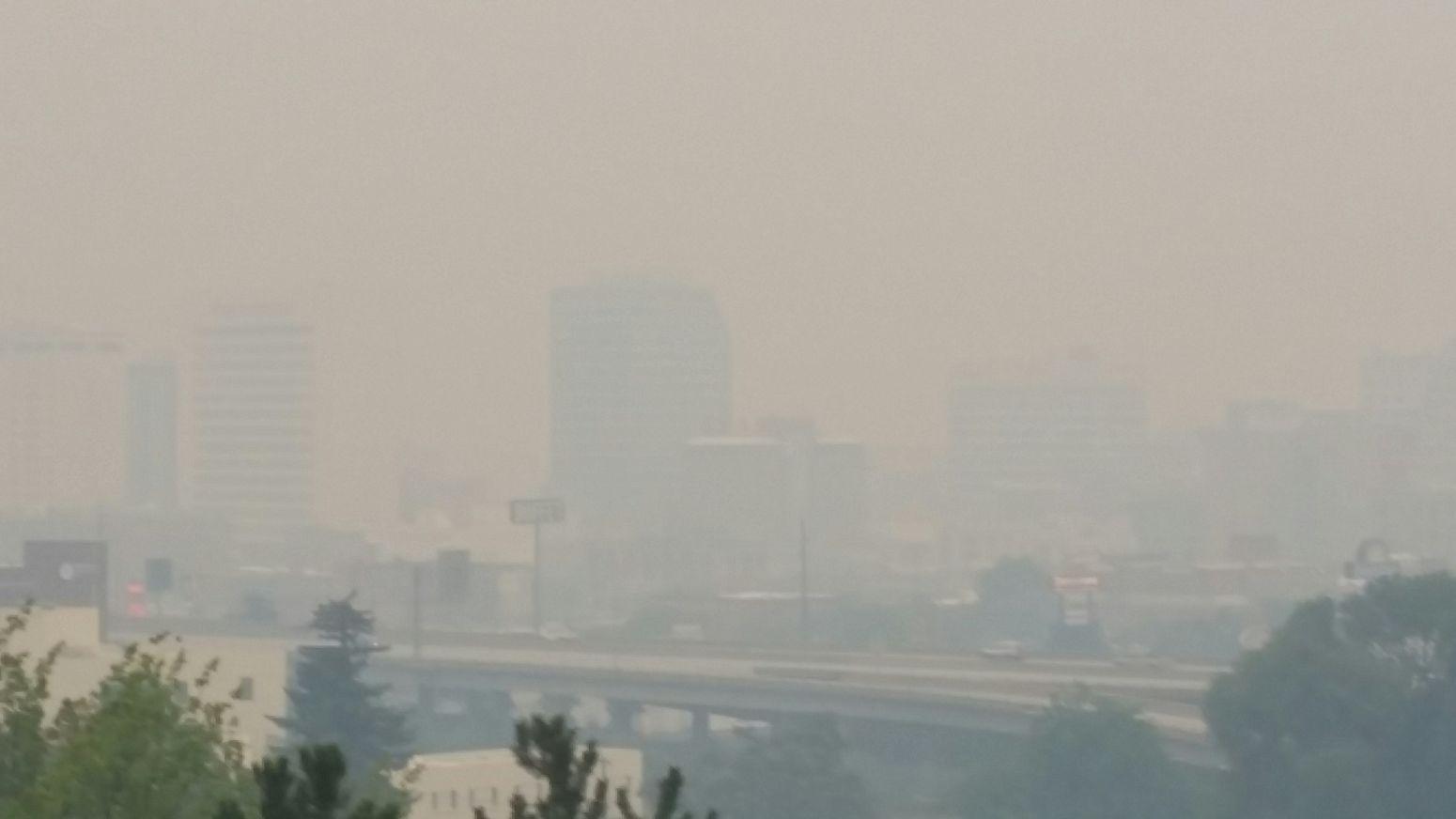 Smokey Day Spokane Wa aug 21 2015