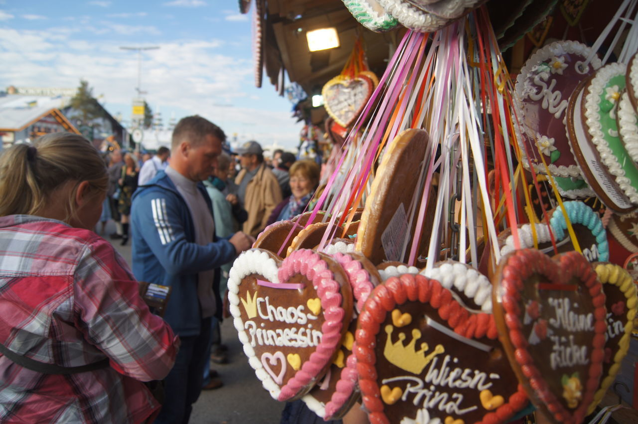 Beautiful stock photos of oktoberfest, Crowded, For Sale, Gingerbread Cookie, Hanging