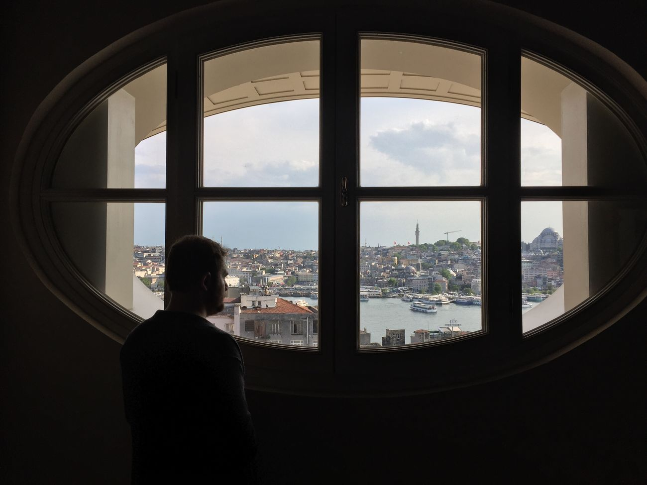 Window Indoors  Sky Looking Through Window Rear View Silhouette Architecture Day Benimkadrajim Bendenbirkare Taking Photos On A Date Karaköy People Casual Clothing Lifestyles Places I've Been Walking Around Professionalphotography Pictureoftheday Istanbul Self Portrait Enjoying Myself FollowMeOnInstagram Standing