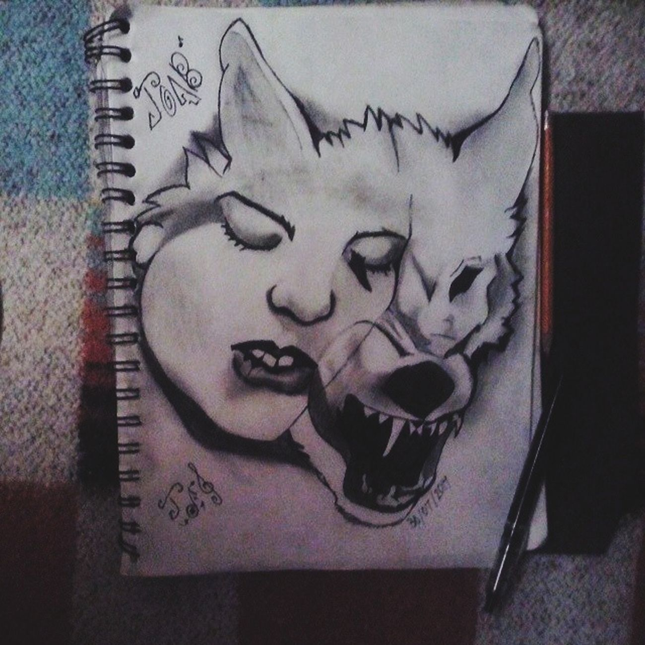 La Mente Detras Del Lapiz Teen Wolf Girl Dibujo A Lapiz Drawingtime Art, Drawing, Creativity Mis Dibujos Draw Dibujo Artistic