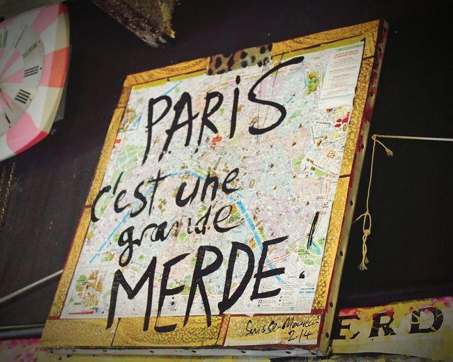 Paris c'est de la Merde. Contemporary Art at 59 rue de Rivoli.