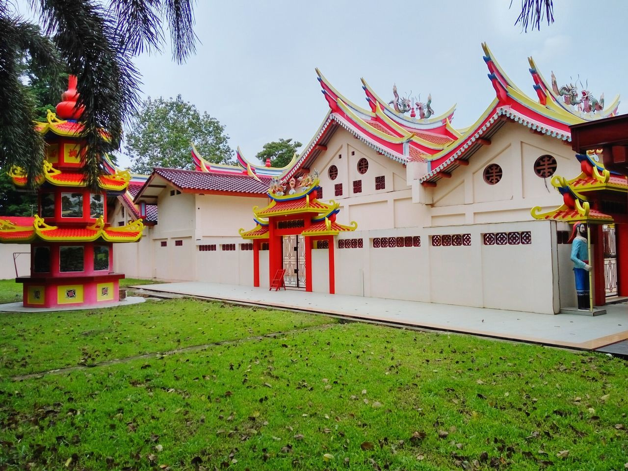Buddhist Temple, Kemaro Island, Palembang, Indonesia Architecture Travel Destinations Tradition Place Of Worship Cultures Outdoors Tourism Religion No People Building Exterior Built Structure Pagoda Building