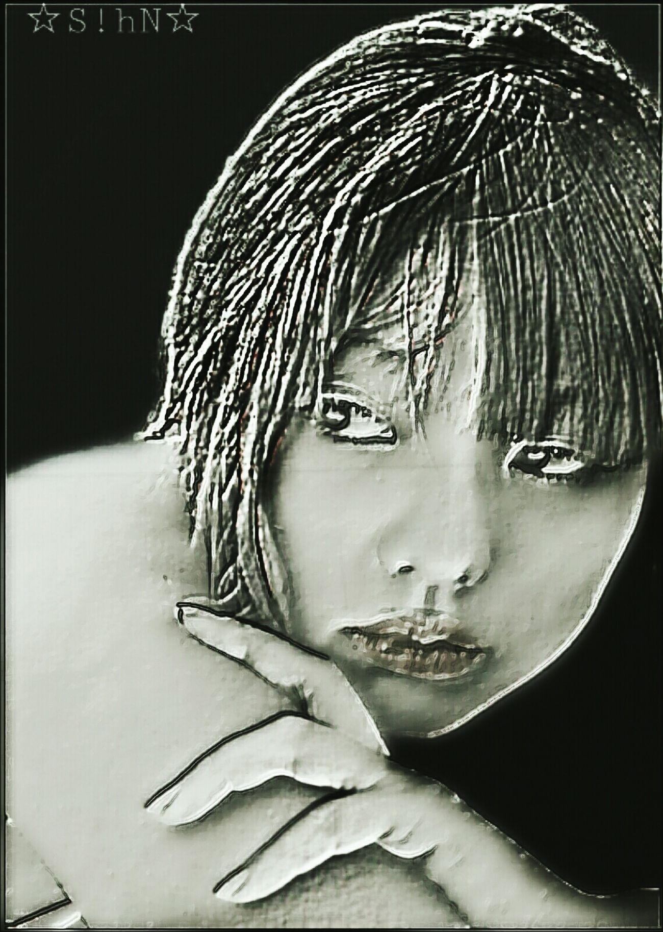 Self Portrait MYArtwork❤ Artistic Expression Black & White Artisticselfie Freetoedit Self Portrait Around The World EyeEm Best Edits Masks Drawstepbystep