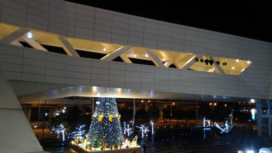 空橋 Christmas Tree Night Light Night Shot Xmas Night Photography Architecture Sketch Architecture_collection Building Built Structure Bridge - Man Made Structure Nightshot Xmastree Buildingstyles